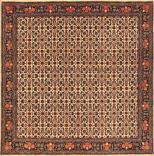 """Oriental Carpet Real Hand-knotted 2760 (203 x 200)cm """" Mint """" Persian Carpet"""