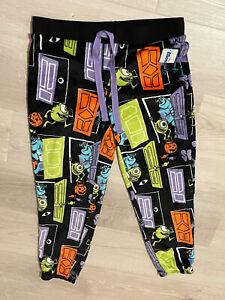 Ladies/juniors Disney Monsters Halloween Supermink PJ  Pants Size LARGE (12-14)