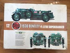 Airfix 1:12 Vintage 1930 Bentley 4.5L Supercharged Model Kit Vintage Boxed Rare