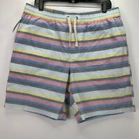 Original Penguin Mens Drawstring Striped Pull-On Shorts Multi L