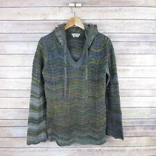 ROYAL ROBBINS Women's Hooded Sweater Sz M Medium Open Knit Outdoors Top