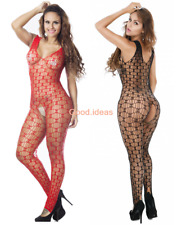 Sexy Lingerie Womens Fishnet Erotic Suspender Hollow Out Bodysuit Body Stocking