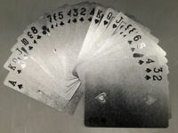 US STOCK Black Diamond Playing Cards Deck Waterproof Poker Cards 54pcs new gift