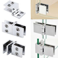 4pcs Door Clip Clamp Support Bracket Catch Hinges for 6mm-8mm Thickness Glass