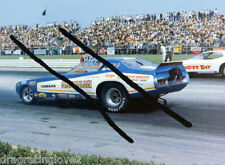 """Hawaiian"" Roland Leong Bobby Rowe 1972 Dodge Charger NITRO Funny Car PHOTO!"
