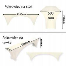 3 pokrowce elastyczne na zestaw piwny kolor biały