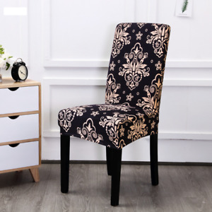 Floral Printing Elastic Chair Cover Home Decoration Dining Chair Office Banquet