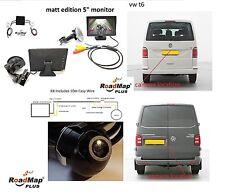 "vw Transporter t6  5"" monitor Rear reversing camera kit number plate 091"