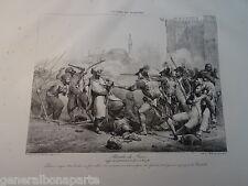 GRANDE Litho CAMPAGNE EGYPTE REVOLTE LA CAIRE 1800 OTTOMAN NAPOLEON ORIENTALISTE
