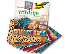 50 Sheets Square Wildlife Print Origami Paper - 15cm | Origami Paper Packs