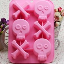 Skull Bone Cake Mold Floral Flexible Silicone Mould For Candy Chocolate Soap