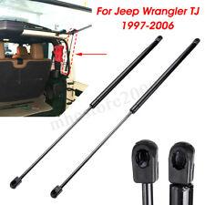 Pair Rear Window Glass Lift Support Struts For Jeep Wrangler TJ 97-06 Hardtop +