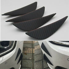 Racing Car Bumper Splitter Fins Spoiler Wings Canards Valance Chin 4pcs CF Look