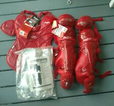Rawlings Catchers Chest Protector Inserts Shin Guards LG950 Pro Adult Red BS