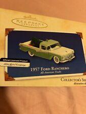 NIB 2002 Christmas Hallmark Keepsake Ornament 1957 Ford Ranchero Die-cast Truck