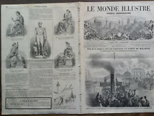 LE MONDE ILLUSTRE 1859 N 132 PASSAGE DE L' EMPEREUR NAPOLEON III A BORDEAUX