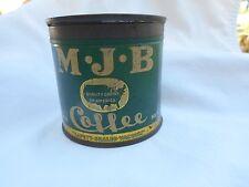 "RARE VINTAGE MJB COFFEE TIN BANK ""Quality coffee of America"" LOGO 1/4 LB. NET"