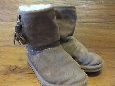 Ugg Boots 1002200K Reino Unido 13 Niños EU 31 Castaño Gamuza Bota Corta