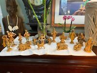 Vintage Fontanini Nativity Set Depose 1983 Italy Figurines LOT Of 17 Rare NICE