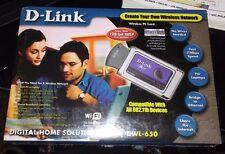 D-Link 2.4GHz Wireless PC Card Model DWL-650 for Laptop Read Full Description