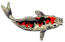 GOLD KOI FISH w/ orange & black markings EMBROIDERED IRON-ON PATCH fishing 9935