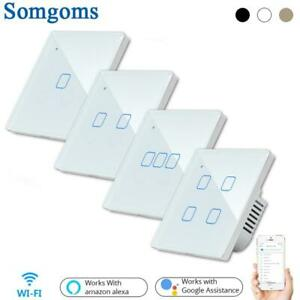 Wifi Touch Smart Wall Switch Remote Light Control Panel 1/2/3 Gang Smart Touch