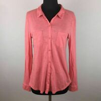 Ann Taylor Loft Womens M Button Down Shirt Long Sleeve All Cotton Casual