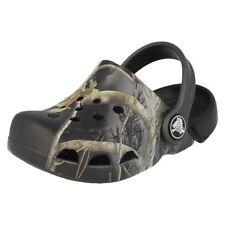 Scarpe neri marca Crocs per bambini dai 2 ai 16 anni da infilare