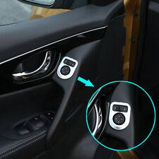 For Nissan Qashqai Rogue 2014- Chrome Side Mirror Switch Knob Control Cover Trim