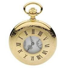 Reloj De Bolsillo Jean Pierre chapado en oro de 3 micras mitad Cazador. G100PM mecánico.