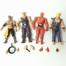 "Lot 4pcs JAZWARES STREET FIGHTER EL Gulie KEN Red RYU 4"" FIGURE With Accessories"