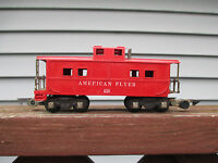 "American Flyer #638 ""AMERICAN FLYER"" RED CABOOSE..USED....OPERATOR CONDITION!"