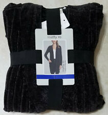 Matty M Chenille Black Cardigan Womens Size Large