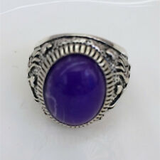Vintage jewelry 316L Stainless Steel Vogue Design Mini Stone Ring USA Size 10 t