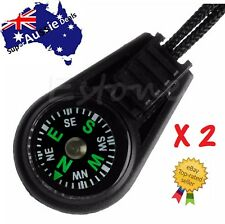 2 x Mini Pocket Portable Outdoor Sport Dial Compass Pointer + Lanyard Strap