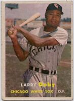 1957 Topps #85 Larry Doby Low Grade Tear Chicago White Sox FREE SHIPPING