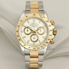 "Rolex Daytona Special ""Cream Dial"" 116523 Stainless Steel & 18k Yellow Gold"