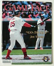 2001 Cleveland Indians GameFace Program - Jim Thome  - Jacobs Field - MINT