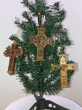 3 Embossed detail Crosses  Christmas ornaments 3 designs
