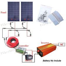 200Watt Off Grid System: 2*100W Solar Panel+1KW 220V Inverter for Home Fan Power