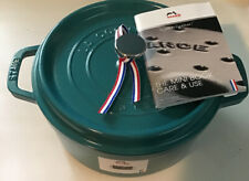 New listing Staub teal turquoise Dutch oven cocotte New Open Box 4qt