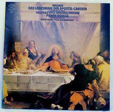 *w- Vinyl-LP - WAGNER - das LIEBESMAHL der APOSTEL/ SIEGFRIED Idyll - P. BOULEZ