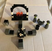 LEGO LIVING & DINING ROOM FURNITURE FIREPLACE TABLE CHAIRS COFFEE TABLE LAMPS ++