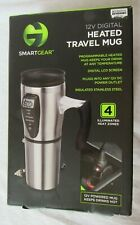 Smartgear 12V Digital Heated Programmable Travel Mug Insulated Stainless Steel