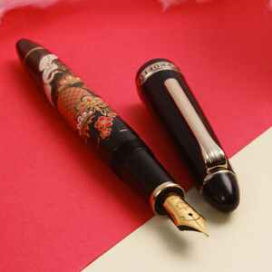 Vintage Sailor Profit Standard Urushi Art 14K Gold EF Nagahara Nib Fountain Pen