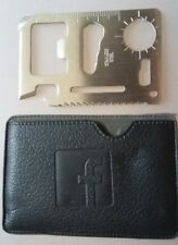 FACEBOOK LOGO 11 IN 1 CREDIT CARD Pocket Knife MULTI TOOL