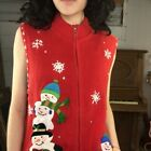 VTG | Embellished Red Snowman Tacky Ugly Christmas Sweater Vest | Woman's Size L