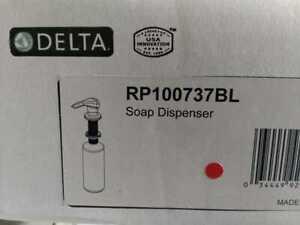 Esque Deck Mount Metal Soap Dispenser in Matte Black by Delta