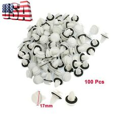 NEW 100 Pcs 9mm Hole Car Plastic Rivet Door Trim Retainer Clip White