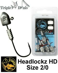 5 Pack of Size 2/0 TT Lures Headlockz HD Series Jigheads - Choose the Weight